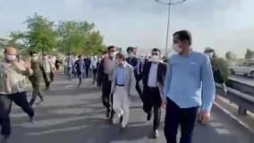 حواشی سفر پر ماجرای احمدی نژاد به قزوین