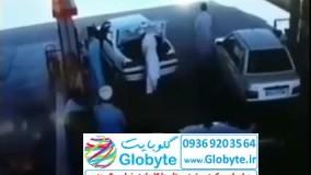 سرقت عجیب پژو پارس در پمپ بنزین