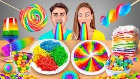 چالش تفریحی خوراکی های رنگارنگ ؛ خوردن غذای رنگی به مدت 24 ساعت !