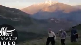 علی لاریجانی برای کوه پیمایی به دماوند رفت