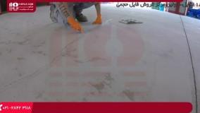 آموزش نصب کفپوش اپوکسی - درزگیری ترک های کف زمین