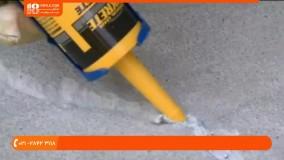 آموزش نصب پارکت و لمینت - چگونگی تعمیر شکاف وترک بتنی