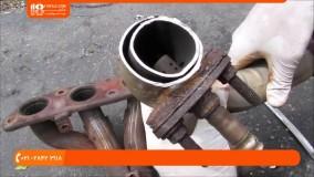 آموزش تعمیر اگزوز - تعمیر سیستم مانیفولد اگزوز خودرو