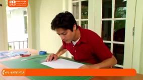آموزش رنگ آمیزی ساختمان   روش خط کشی با شابلون