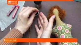 آموزش دوخت عروسک تیلدا | آرایش عروسک تیلدا