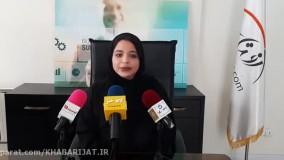 فاطمه عمیدی در جمع خبرنگاران