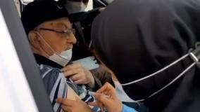 نخستین دوز واکسن کرونا به استاد «گلپا» تزریق شد