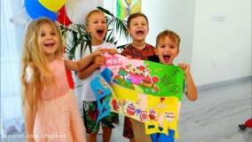 ولاد و نیکی - تولدت مبارک نیکی ! جشن تولد کودکان با ولاد ، دیانا و روما