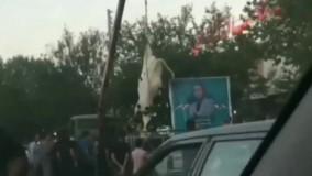آویزان کردن گاو از جرثقیل برای تبلیغ یک کاندیدا