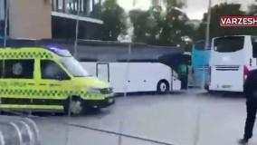لحظهای که اریکسن به بیمارستان منتقل شد