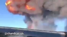 ویدیویی هولناک از آتش سوزی پمپ بنزین در روسیه