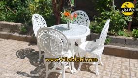 صندلی و میز باغی پلیمری طاووسی