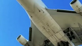 فرود بویینگ ۷۴۷ از نمایی فوقالعاده