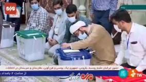 فک پلمپ صندوق ها و آغاز شمار آراء در مسجد صادقیه تهران