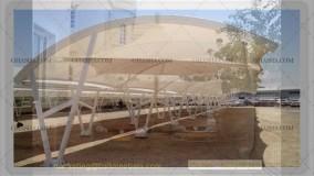 پوشش خیمه ای پارکینگ اتومبیل-سایبان کششی کارواش-سقف چادری جایگاه سوخت-سایبان پارکینگ مجتمع مسکونی09380039391حقانی