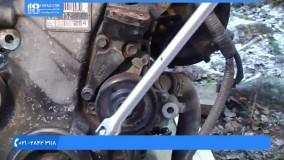 آموزش تعمیر موتور تویوتا - واترپمپ بازکردن موتور