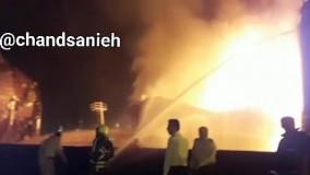 آتش نشانان در حال تلاش برای مهار کانون اصلی آتش سوزی پالایشگاه تهران هستند.