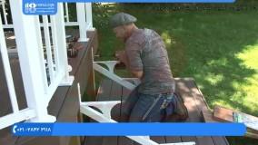 آموزش نصب نرده استیل - نصب پایه برای پله