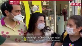 آموزش مکالمه زبان ترکی - برنامه مردم بعد از کرونا ویروس