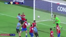 خلاصه بازی اروگوئه 1 - شیلی 1