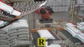 استفاده از ربات صنعتی برای جابجایی   ربات کار   بازوی رباتیک پالتایزر