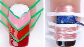 ایدههای ساده طراحی ناخن :: دیزاین ناخن ساده