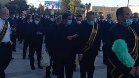 پرچم گردانی و پایان جشن میلاد امام رضا علیه لسلام