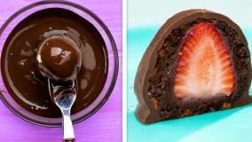 دستورالعمل های شکلات ، میوه و کیک - ایده های دسر