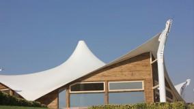 زیباترین سایبان خیمه ای-سقف خیمه ای سالن غذاخوری-پوشش خیمه ای تالار09380039391حقانی