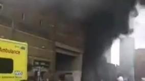 آتش سوزی مهیب در ایستگاه قطار انگلیس