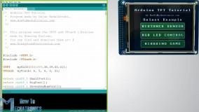 آموزش صفحه لمسی Arduino TFT LCD