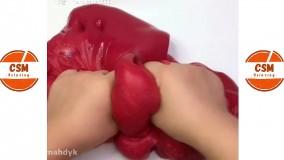 بازی با اسلایم های خمیری - اسلایم های رضایت بخش و ضد استرس