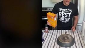 ترفند ساده برای تمیز کردن سوختگی زیر ماهیتابه ها و قابلمه ها