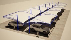 سقف چادری پارکینگ خودرو-حقانی09380039391-سایبان خیمه ای ماشین