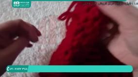آموزش بافت پانچو   بافتنی   قلاب بافی   دوخت شنل (مدل مانتو پانچ دخترانه)