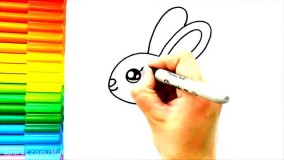 آموزش نقاشی کودکانه _ نقاشی خرگوش زیبا و خوشگل