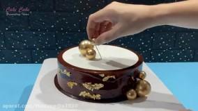 آموزش تزئین کیک تولد با طرح گل های مختلف