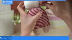 آموزش  عروسک سازی | آموزش دوخت عروسک جورابی | دوخت عروسک دختر مدل شماره 1