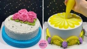 آموزش تزئین کیک _ آموزش چند مدل خوشگل تزئین کیک