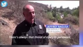 اعزام بزهای ضد آتش برای مبارزه با حریق در کالیفرنیا