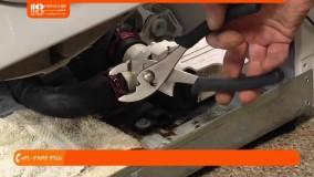 آموزش تعمیر لباسشویی /آموزش روش برداشتن تسمه از روی پولی های موتور و دیگ