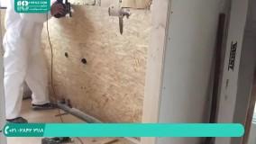 نصب دیوار پوش سه بعدی   دیوار حمام را با پنل های او اس بی بپوشانید