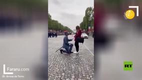 خواستگاری یک سرباز در رژه نظامی !