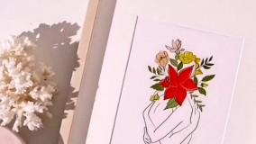 تابلو هنری رومیزی دخترانه