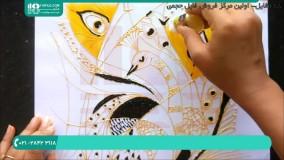اموزش نقاشی روی شیشه | نقاشی گربه بر روی طلق
