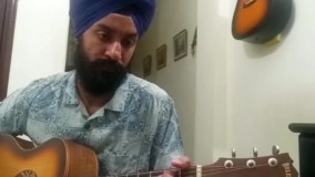 اجرای قطعه مالاگوئنا با تنظیم استاد امیر کریمی توسط نوازنده هندی گیتار آکوستیک