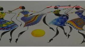 اموزش نقاشی روی شیشه   نقاشی بر روی جام پایه دار