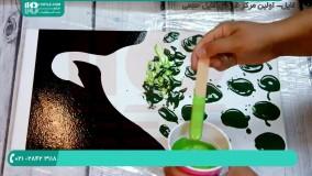 نقاشی با رزین اپوکسی / نقاشی طرح مدرن با رزین اپوکسی