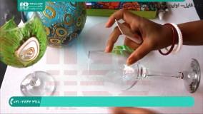 آموزش ویترای- آموزش نقاشی روی ظروف-آموزش نقاشی روی لیوان شیشه ای 2