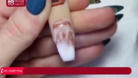 آموزش طراحی ناخن / طراحی ناخن با پودر رنگی